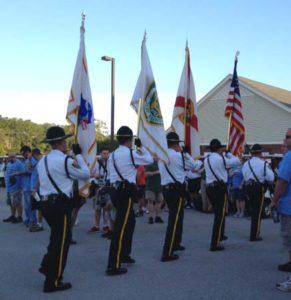 CCSO Honor Guard at Golf Tourney