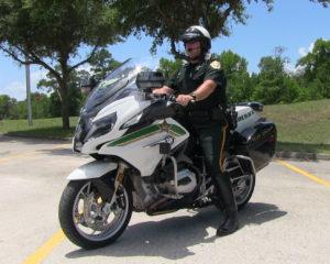 Sheriff on bike