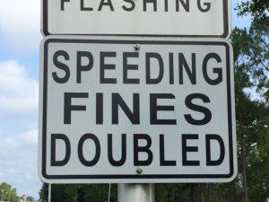 Speeding fines doubled