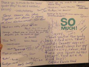 Deputies write thank you card to Savvy
