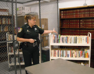 Loretta Henry with Jail Books