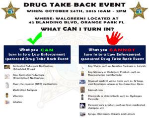 Drug Take Back Event October