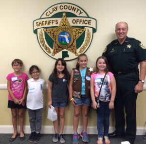 Girl Scout tour 2015 with Beseler group
