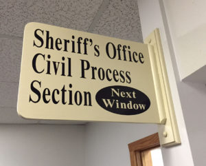 Sign for Clay County Sheriff's Office Civil Section