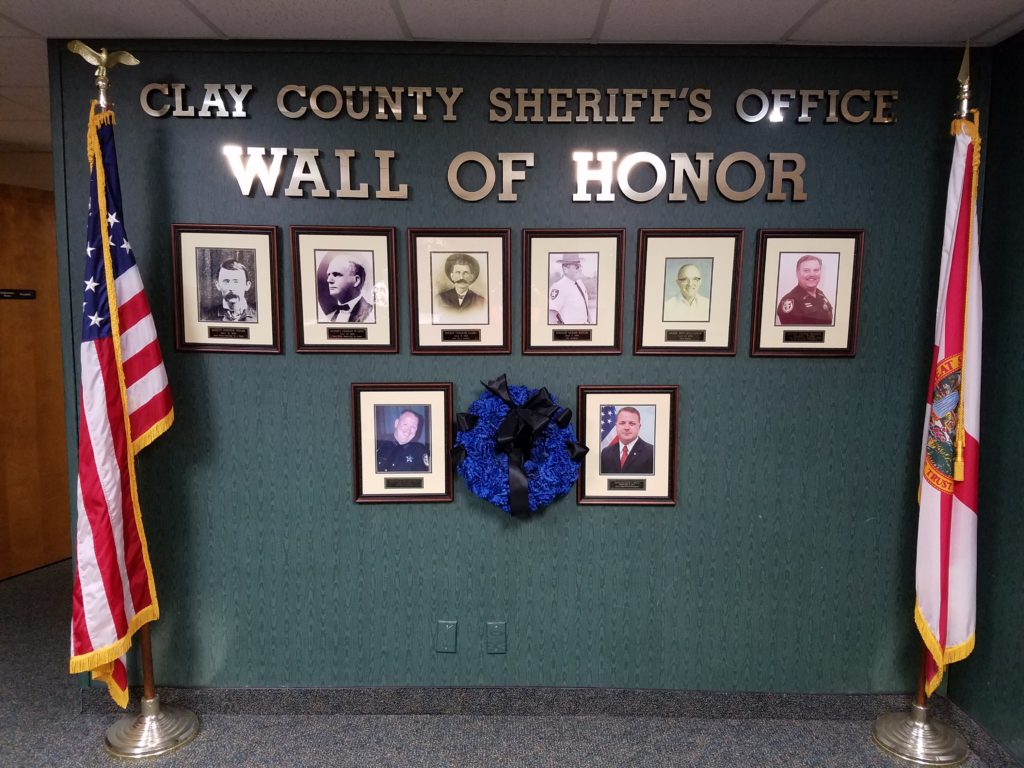 Clay County Sheriff's Office Wall of Honor
