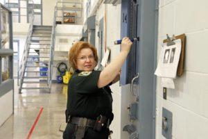 sheriff making repairs