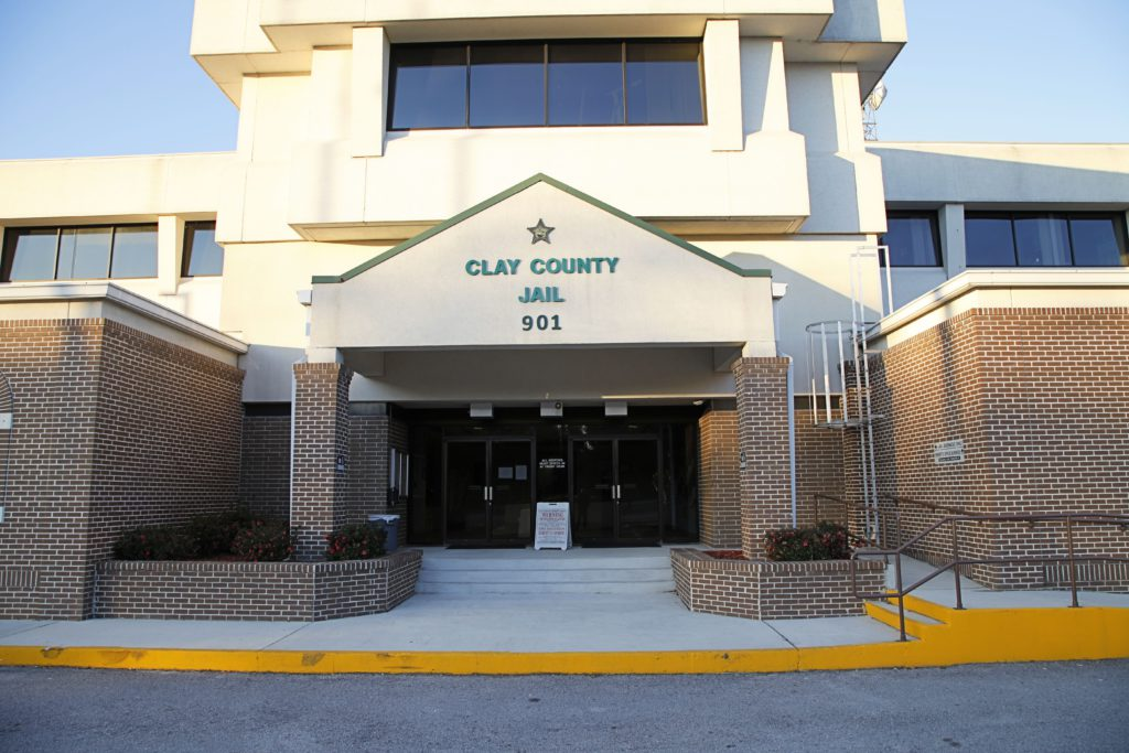 Outside view of the Clay County Sheriff's Office Jail Lobby