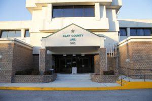 Clay county jail entrance