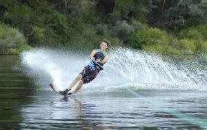 stock photo of water skiing