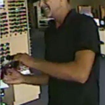 sunglasses theft suspect photo