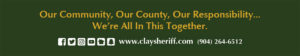 Our Community, Our County, Our responsibility... We're All In This Together