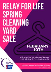 Relay for life spring cleaning yard sale