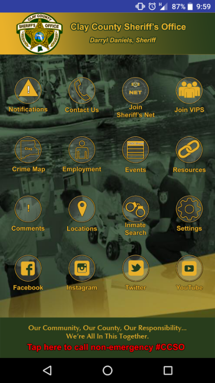 Home Page of the mobile application