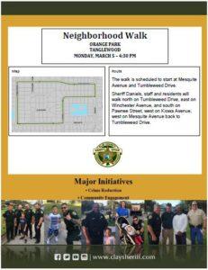 Neighborhood walk orange park