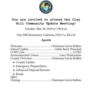 Clay Hill Meeting