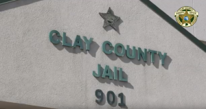 Picture of the front of the Clay County Jail
