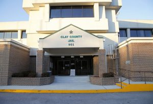 entrance of clay county jail