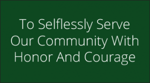 Clay County Quote saying To Selflessly Serve Our Community With Honor And Courage