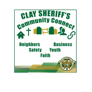 Clay sheriff's community connect Logo