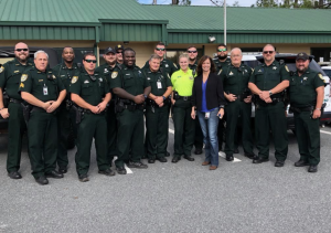 Deputies and Sheriff Cook standing in a group