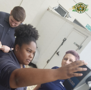 Crime scene technicians