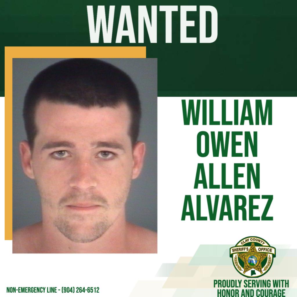 Wanted posted of William Alvarez