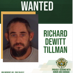 Richard Dewitt Tillman wanted poster