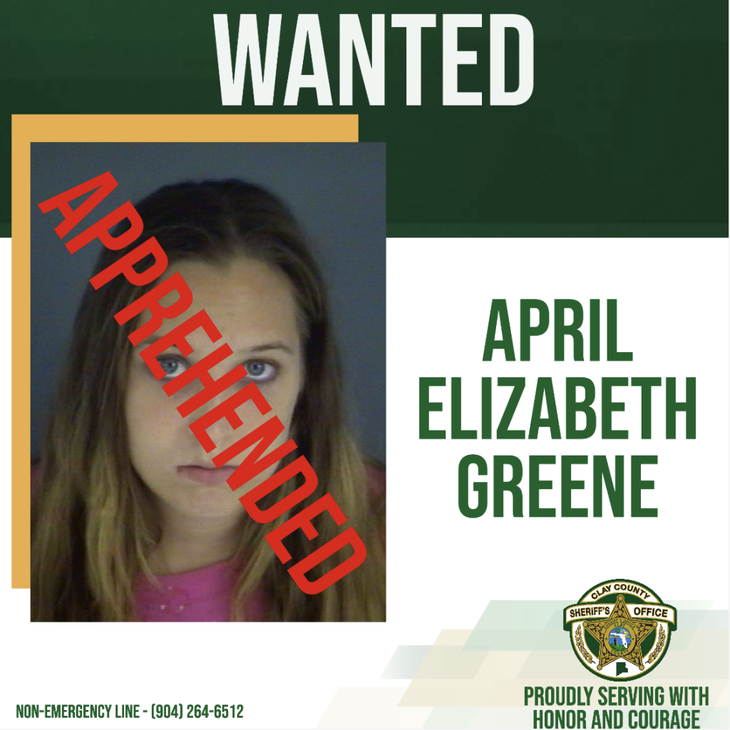 GREENE APPREHENDED WANTED POSTER