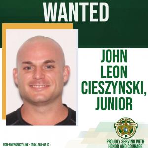 Wanted posted of John Cieszynski