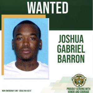 Wanted poster of Joshua Barron