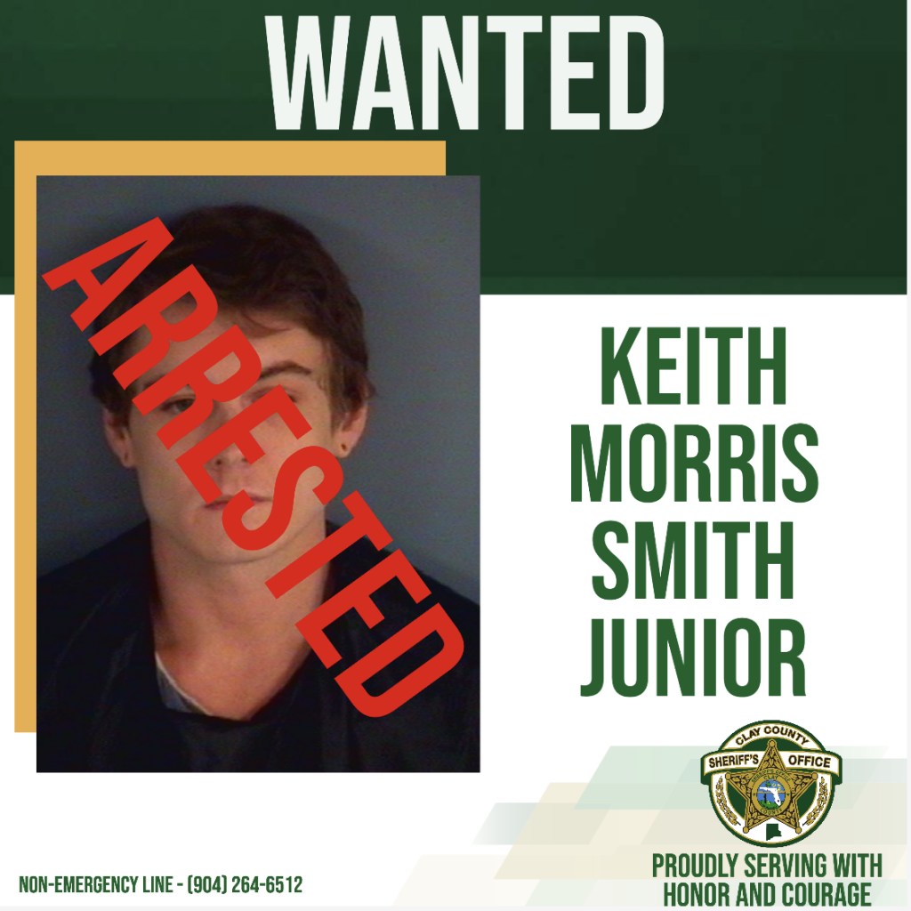 Wanted poster of Keith Smith