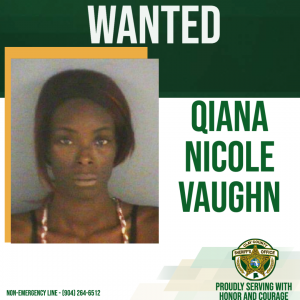 wanted posted of Qiana Vaughn