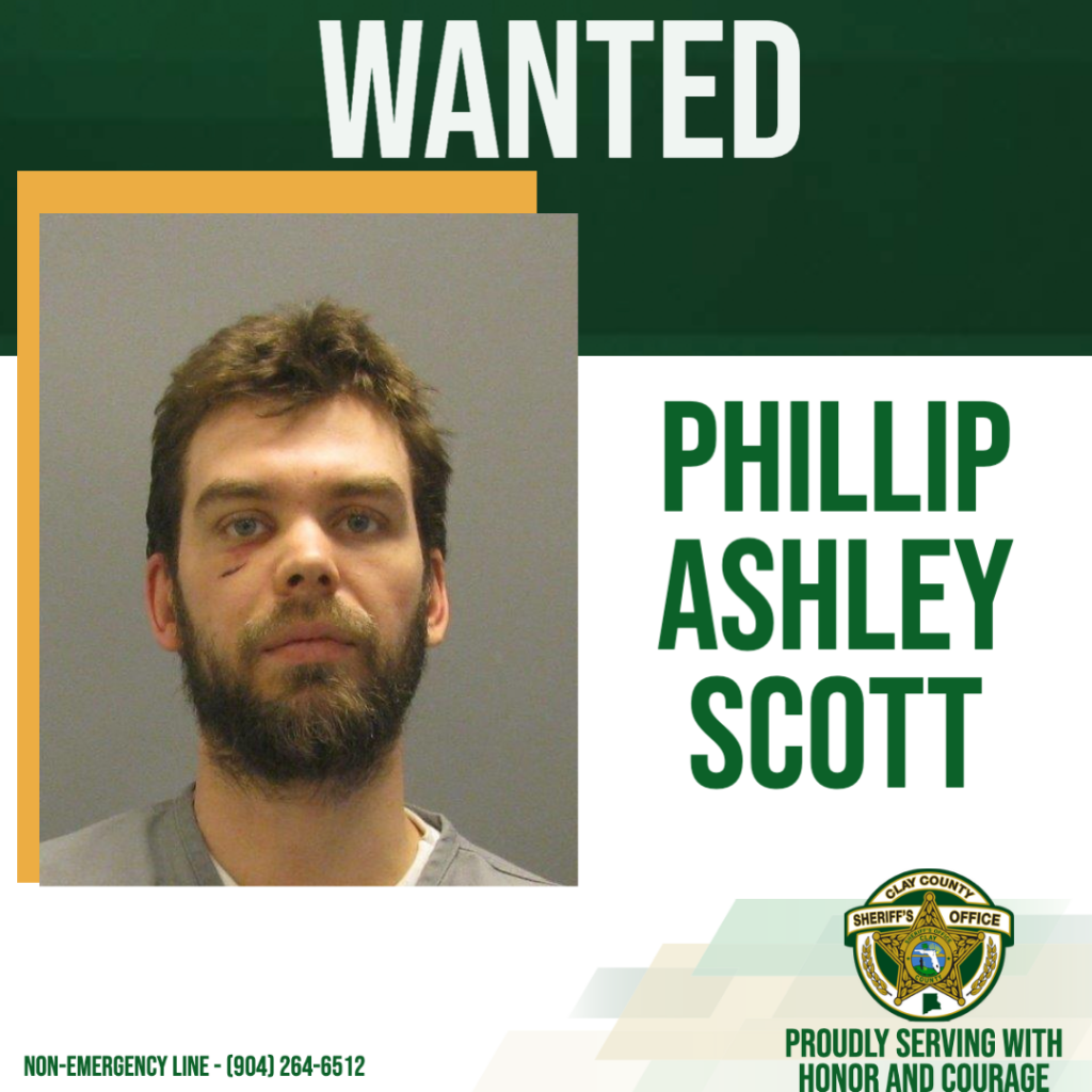 Wanted poster of Phillip Scott