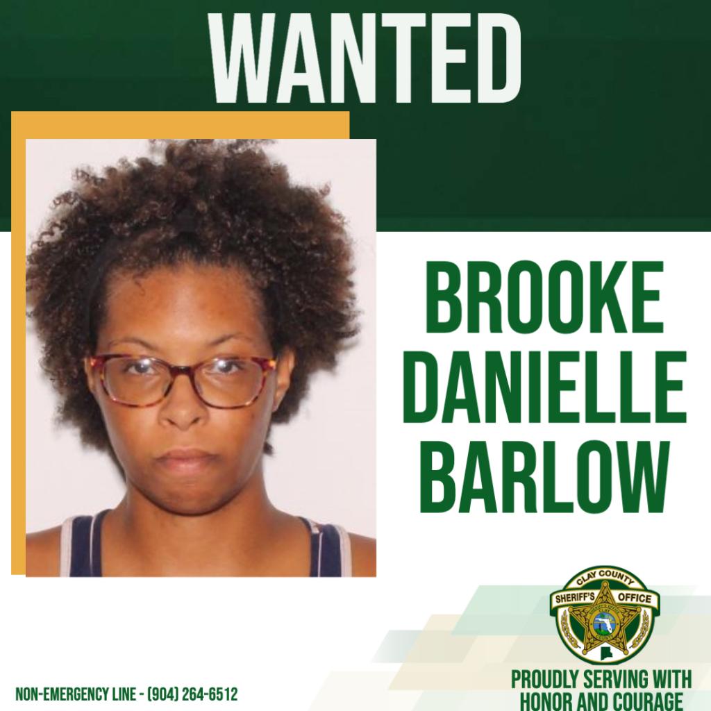 Wanted poster of Brooke Barlow