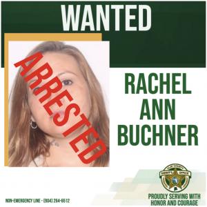 Wanted poster of Rachel Buchner