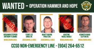An image of 5 separate fugitives