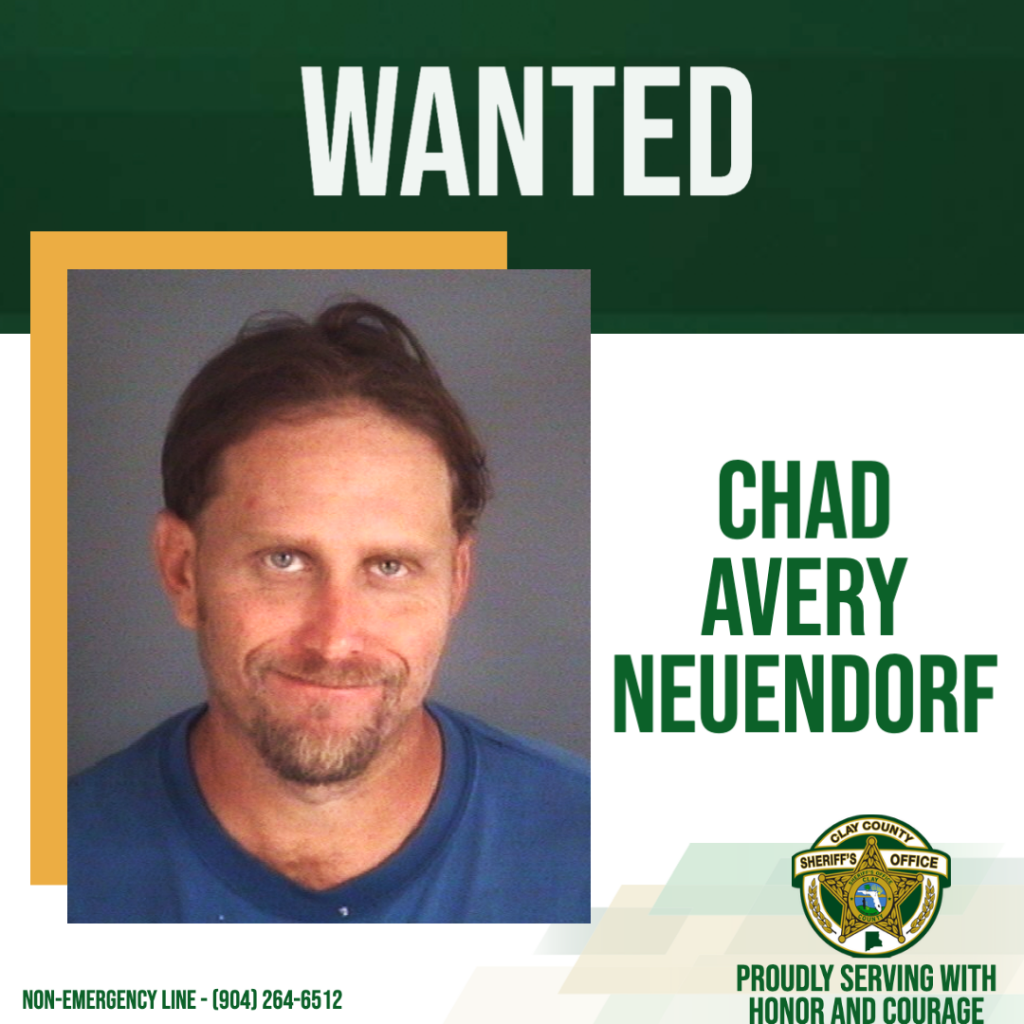 A Wanted poster of fugitive Chad Avery Neuendorf