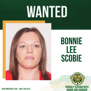 Wanted poster of Bonnie Scobie